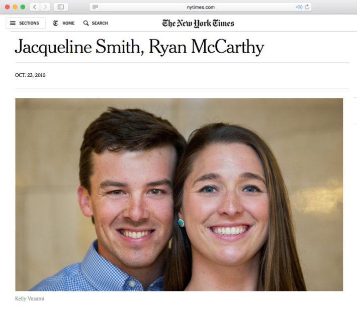 New York Times Wedding: Kelly Vasami Photography Blog: Announcements